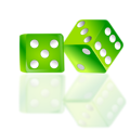 Free Stock Photo: Illustration of a pair of green dice