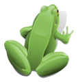 Free Stock Photo: Illustration of a green frog