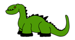 Free Stock Photo: Illustration of a cartoon dinosaur