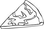 Free Stock Photo: Illustration of a slice of pizza with toppings