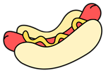 Free Stock Photo: Illustration of a hotdog
