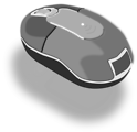 Free Stock Photo: Illustration of a computer mouse with a transparent background.