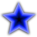 Free Stock Photo: Illustration of a blue star
