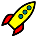 Free Stock Photo: Illustration of a yellow rocket