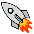 Free Stock Photo: Illustration of a rocket with a transparent background.