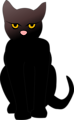 Free Stock Photo: Illustrated silhouette of a black cat