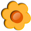 Free Stock Photo: Illustration of an orange flower