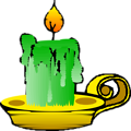 Free Stock Photo: Illustration of a green candle