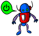 Free Stock Photo: Illustration of a blue cartoon robot