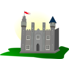 Free Stock Photo: Illustration of a medieval castle