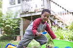 Free Stock Photo: A young African-American boy playing outside