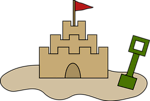 Free Stock Photo: Illustration of a sand castle