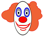 Free Stock Photo: Illustration of a cartoon clown face