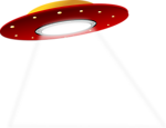 Free Stock Photo: Illustration of a ufo with a transparent background.