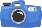 Free Stock Photo: Illustration of a camera with a transparent background.