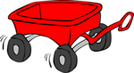 Free Stock Photo: Illustration of a red wagon