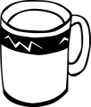 Free Stock Photo: Illustration of a coffee mug with a transparent background.