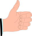 Free Stock Photo: Illustration of a cartoon hand giving a thumbs up