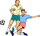 Free Stock Photo: Illustration of men playing soccer