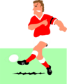 Free Stock Photo: Illustration of a man playing soccer