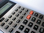 Free Stock Photo: Closeup of a calculator