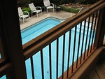 Free Stock Photo: View of a swimming pool from a deck