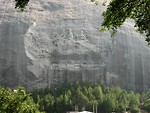 Free Stock Photo: Confederate stone carving at Stone Mountain Park