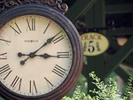 Free Stock Photo: Closeup of a clock at a railroad station