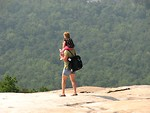 Free Stock Photo: Woman with child hiking on Stone Mountain