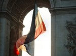 Free Stock Photo: French flag at Arc de Triomphe