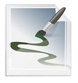 Free Stock Photo: Illustration of a paint brush making a design
