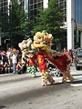 Free Stock Photo: Chinese dragons at the Dragoncon 2008 parade