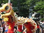 Free Stock Photo: Chinese dragons at the 2008 Dragoncon parade