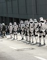 Free Stock Photo: Row of Stormtroopers marching in the 2008 Dragoncon parade