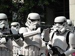 Free Stock Photo: A group of men in Stormtrooper costumes at Dragoncon 2008 in Atlanta, Georgia.