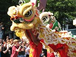 Free Stock Photo: Chinese parade dragons in the 2008 Dragoncon parade