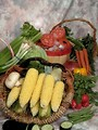 Free Stock Photo: A basket of various vegetables