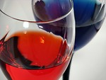 Free Stock Photo: Colored wine glasses