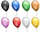 Free Stock Photo: Colored balloons