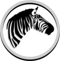 Free Stock Photo: Illustration of a zebra head in a circle