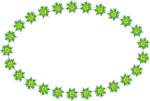 Free Stock Photo: Illustration of a ring of green and yellow stars