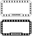 Free Stock Photo: Illustration of  blank coupon frames