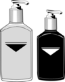 Free Stock Photo: Illustration of pump bottles