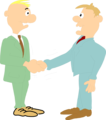 Free Stock Photo: Illustration of a pair of business men shaking hands