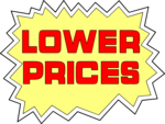 Free Stock Photo: Illustration of lower prices sales text