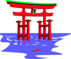 Free Stock Photo: Illustration of the floating Shinto Shrine in Japan