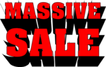 Free Stock Photo: Illustration of massive sale 3d advetising text