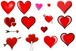 Free Stock Photo: Clip art hearts