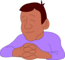 Free Stock Photo: Illustration of an African American man praying