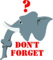 Free Stock Photo: Illustration of an elephant with text